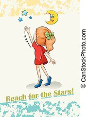 Reaching - English idiom reach for the stars