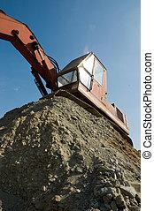 reaching excavator