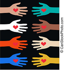reaching hands - reaching loving hands