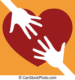 Reaching out for love. - Reaching out for love design vector...