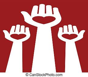 Reaching out for love. - Reaching out for love vector design...