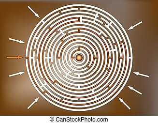 Reaching the goal in labyrinth, brown
