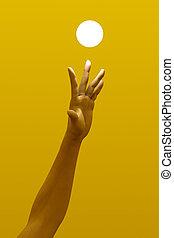 Reaching the Light - 3D Illustration.