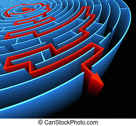 Reaching The Success - Finding the exit in the labyrinth ....