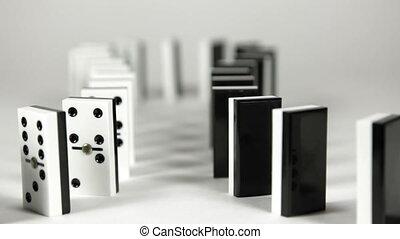 reactie, domino, ketting