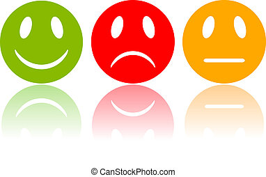 Reaction smileys, vector illustration
