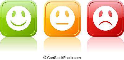 Reaction face symbols