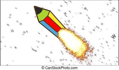 Reactive color pencil. Creative Pencil. - Creativity...
