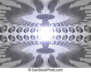 reactor core room - 3d reactor core. reaction of energy