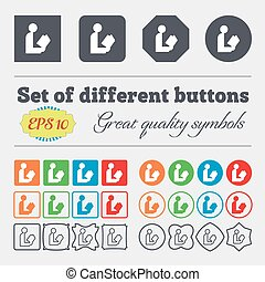read a book icon sign. Big set of colorful, diverse, high-quality buttons. Vector