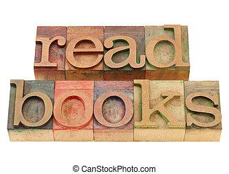 read books suggestion in vintage wood letterpress printing ...