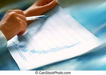 read financial report - read the graph in financial report