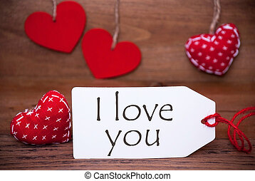 Read Hearts, Label, Text I Love You