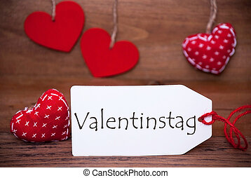 Read Hearts, Label, Valentinstag Means Valentines Day -...