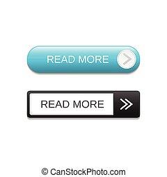 Read more button set vector