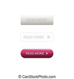 Read more button set vecto