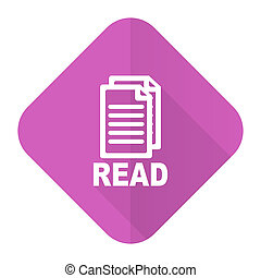 read pink flat icon