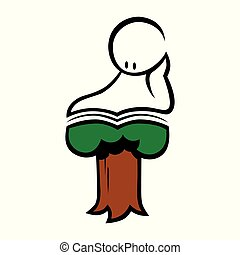 Read to grow concept symbol on white background