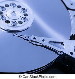 hard disk - reader of a hard disk