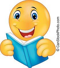 readi, heureux, dessin animé, smiley, emoticon