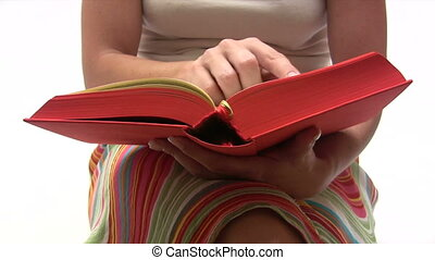 Reading a Book - Canon HV30. HD 16:9 1920 x 1080 @ 25.00...