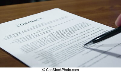 reading and signing a contract