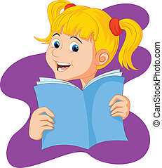 Reading Book Cartoon