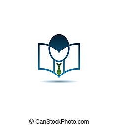 Reading book logo