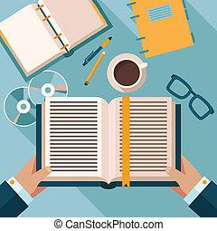 Reading books on desktop