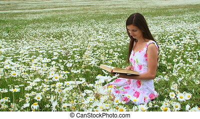 Reading books on the nature