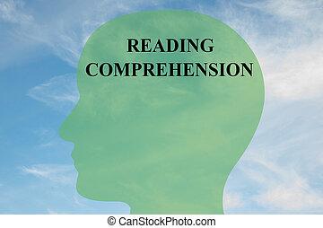 Reading Comprehension concept - Render illustration of...