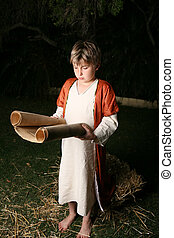 Reading from the scriptures - Young boy or young Jesus...