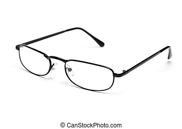 Reading Glasses - A pair of sleek reading glasses isolated ...