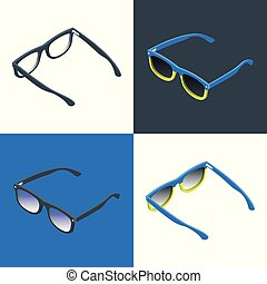 Reading glasses and sunglasses
