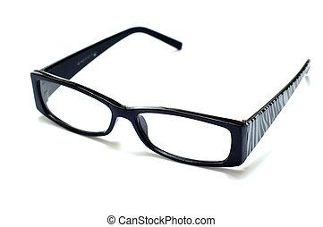 Reading Glasses - Black plastic frame glasses with zebra ...