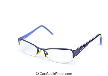 Reading glasses - Classic style reading glasses over white ...