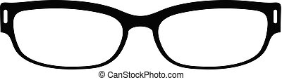 Reading glasses icon, simple style.