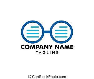 Reading Glasses Logo Template Design