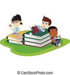 Reading hobbies activity