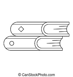 Reading icon, outline style.
