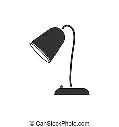 Reading lamp icon flat