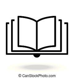 Reading line icon vector