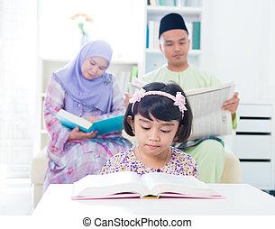 reading., musulmano, famiglia