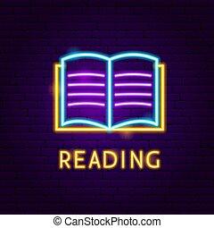 Reading Neon Label