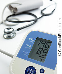 hypertension - reading on the blood pressure gauge shows...