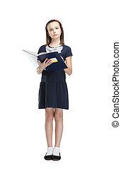 Reading schoolgirl