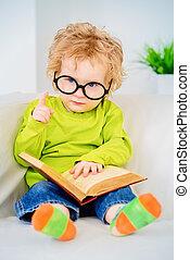 reading small baby