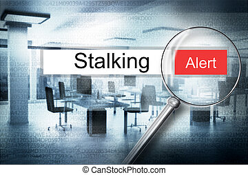reading stalking browser search security alert 3D ...