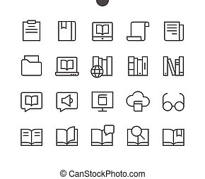 Reading View Outlined Pixel Perfect Well-crafted Vector Thin Line Icons 48x48 Ready for 24x24 Grid for Web Graphics and Apps with Editable Stroke. Simple Minimal Pictogram