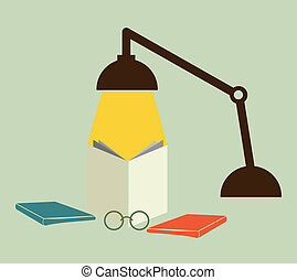 Reading with a lamp